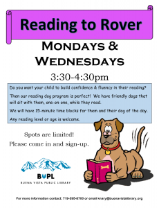 Reading to Rover @ Buena Vista Public Library | Buena Vista | Colorado | United States
