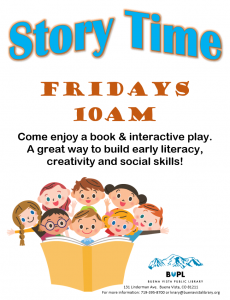 Story Time - 10 AM @ Buena Vista Public Library | Buena Vista | Colorado | United States